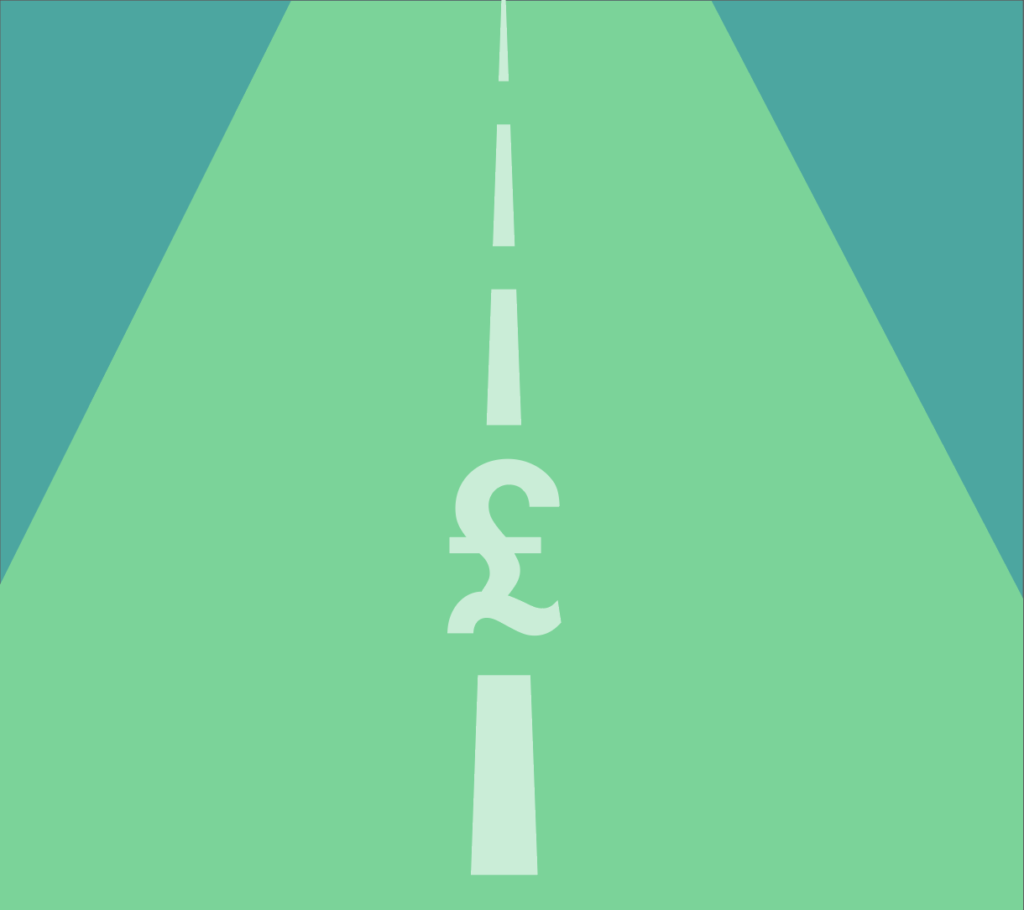 Image of a road with a pound sign