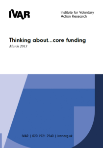 Front cover image of Thinking about core funding