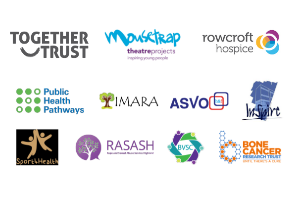 Logos of charities who have co-signed the blog.