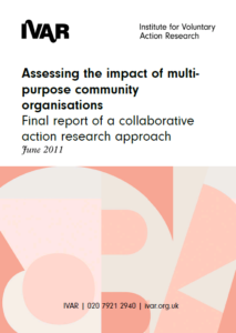 Front cover image for assessing the impact of multi purpose community organisations