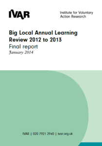 Front cover image for Big Local Learning Review 2012 to 2013