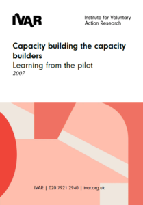 Front cover image capacity building the capacity builders