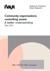 Front cover image Community organisations controlling assets