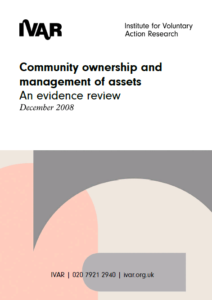 Front cover image for community ownership and management of assets