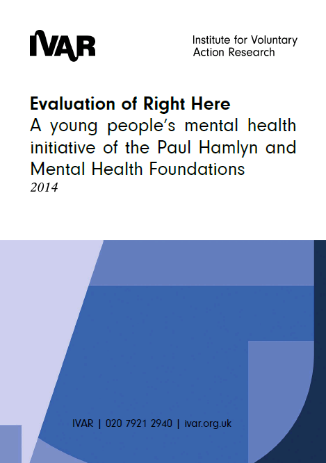 Front cover image of Evaluation of Right Here Evaluation
