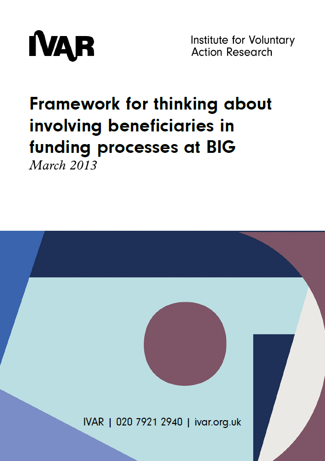 Framework for thinking about involving beneficiaries in funding processes at BIG