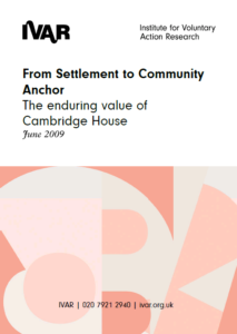 Front cover image From settlement to community anchor