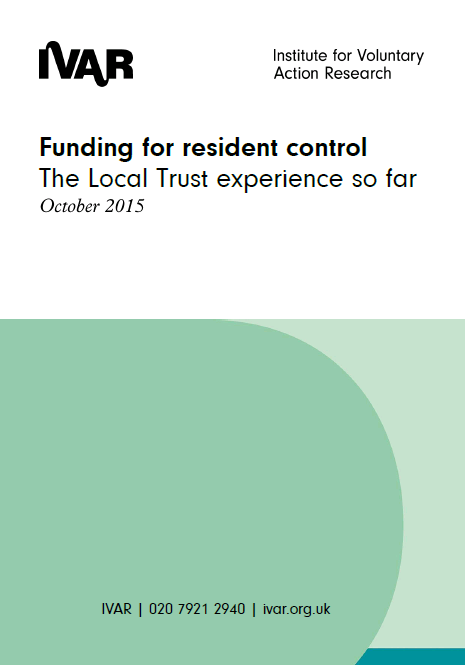 Front cover for funding for resident control