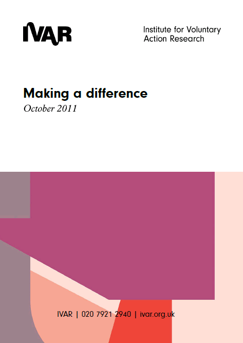 Front cover image for Making a difference