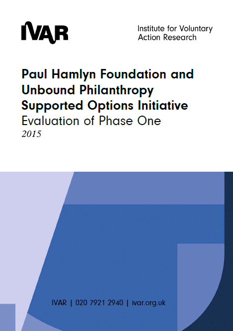 Paul Hamlyn Foundation and Unbound Philanthropy Supported Options Initiative