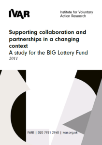 Front cover image of supporting collaboration and partnerships in a changing context