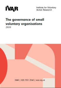 Front cover image the governance of small voluntary organisations