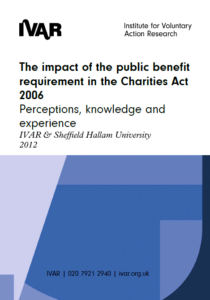 Front cover image impact of the public benefit requirement in the Charities Act 2006