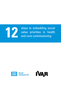 Front cover image 12 steps to embedding social value priorities
