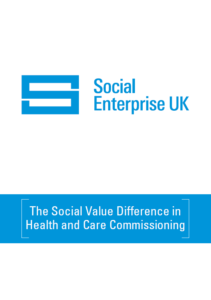 Front cover image social value difference in health and care commissioning
