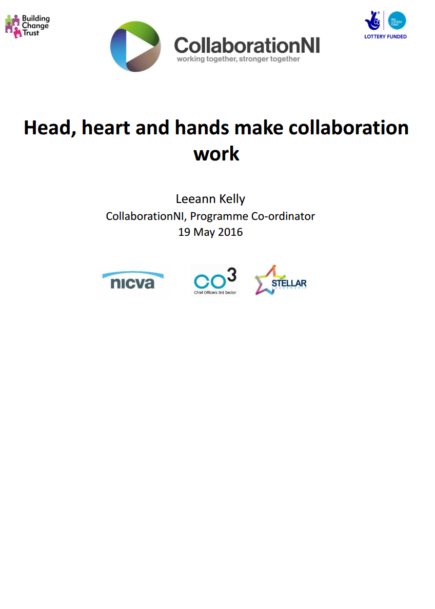 Head, Heart & Hands Make Collaboration Work