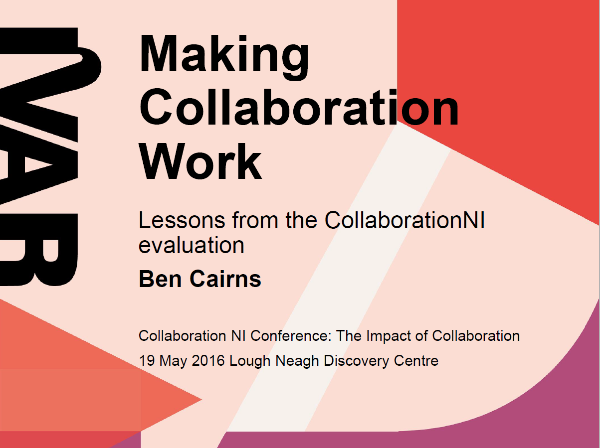 Collaboration NI: Lessons from the evaluation