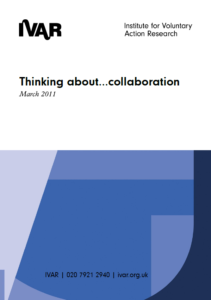 Front cover image of thinking about collaboration