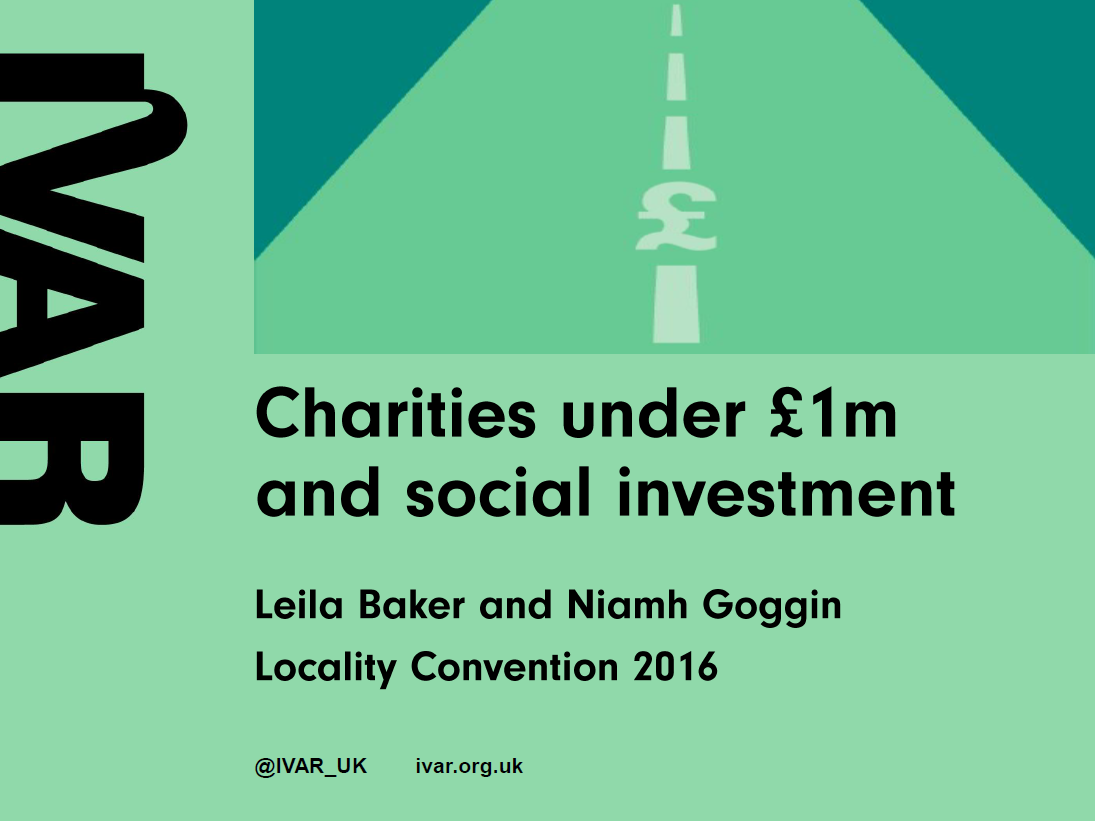 Locality Convention 2016: Charities under £1m and social investment