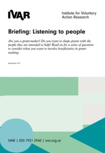 Briefing- listening to people