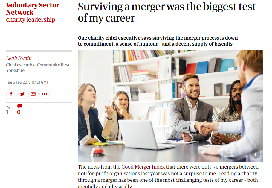 """Surviving a merger was the biggest test of my career"
