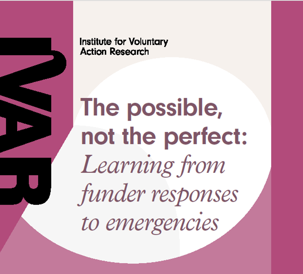 The possible, not the perfect: Learning from funder responses to emergencies