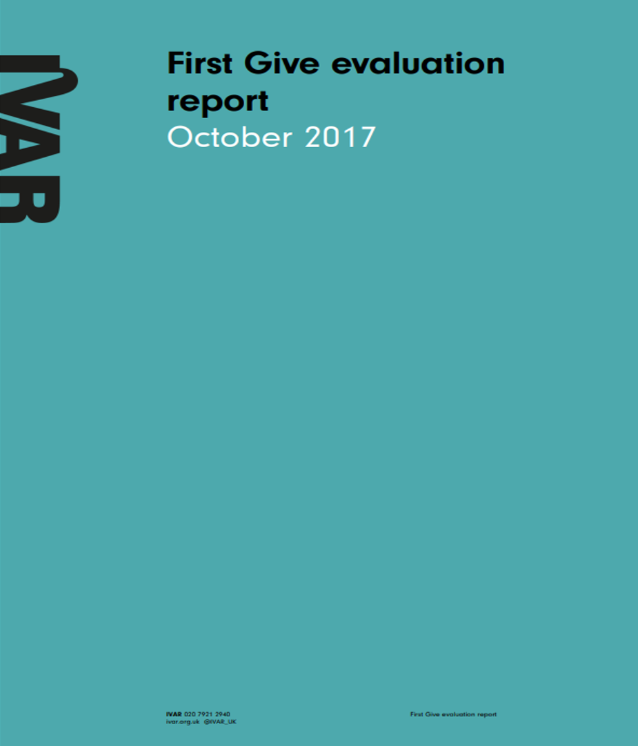First Give evaluation report