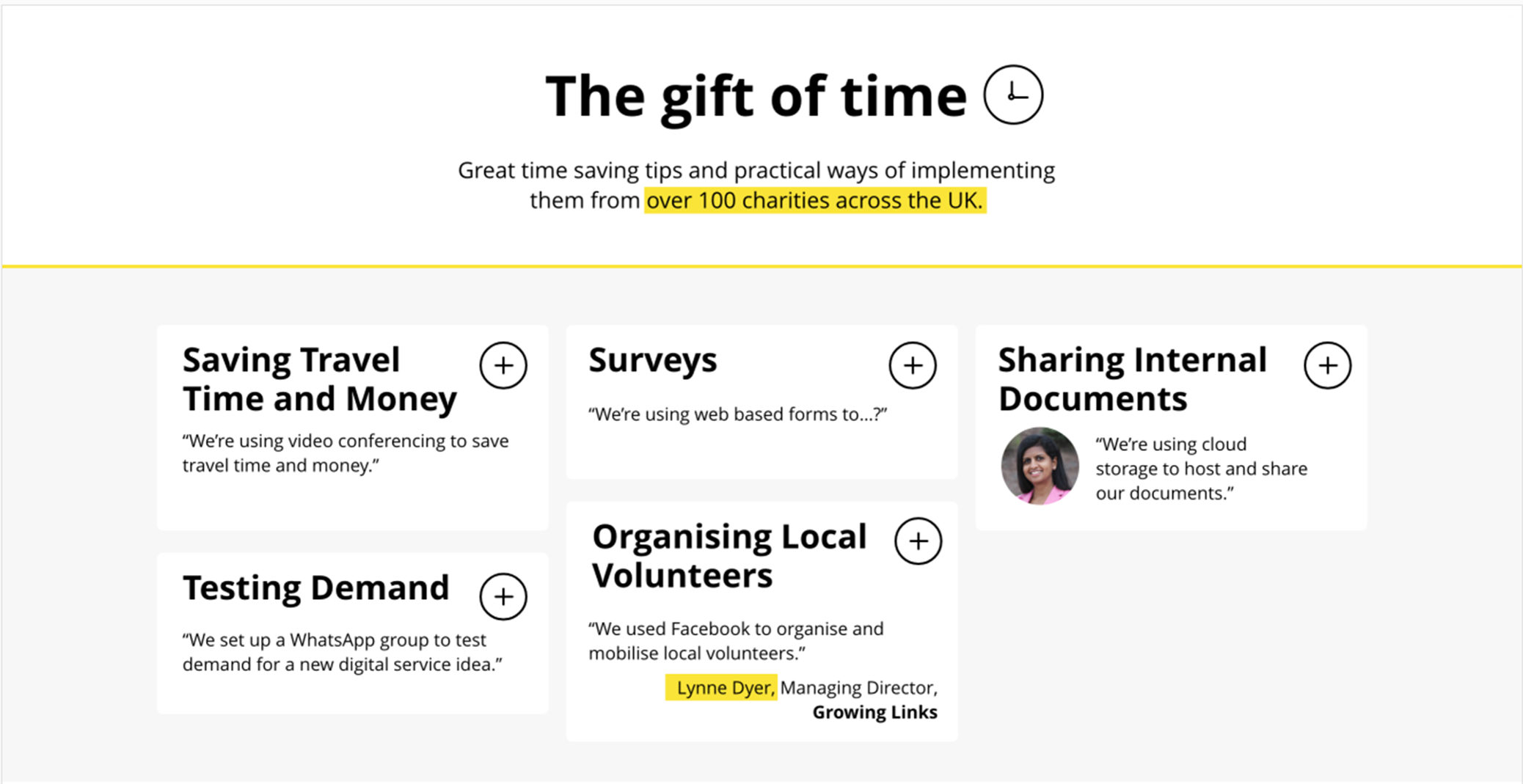 The gift of time: Practical tech tips and what we learnt from sharing them