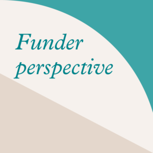 Funder perspective