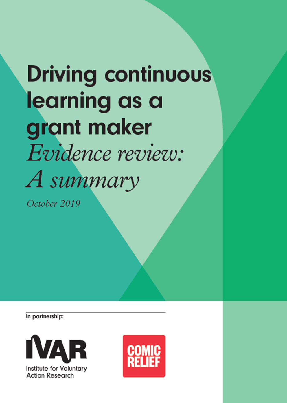 Summary: Driving continuous learning as a grant maker – Evidence review