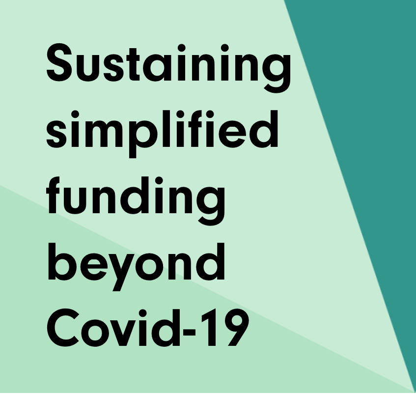 Sustaining simplified funding beyond the Covid-19 crisis