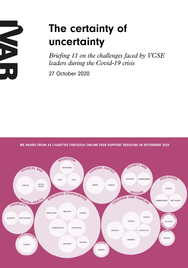 Briefing 11 - The certainty of uncertainty - IVAR October 2020 Front cover