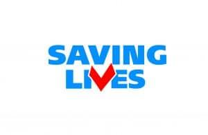 Saving Lives logo.