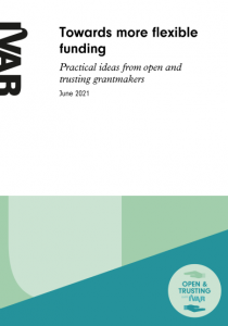 report cover for towards more flexible funding.