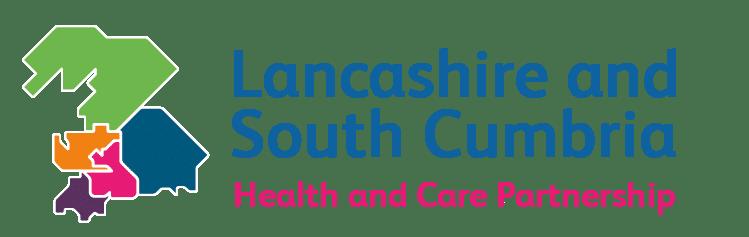 Lancashire and South Cumbria Health and care partnership logo.